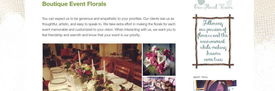 Compass Floral Website Design