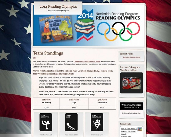 Reading Olympics Website Design