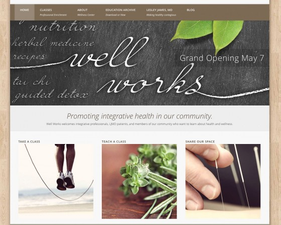 Lesley James, MD Wesite Design